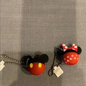 Minnie and Mickey keychain set